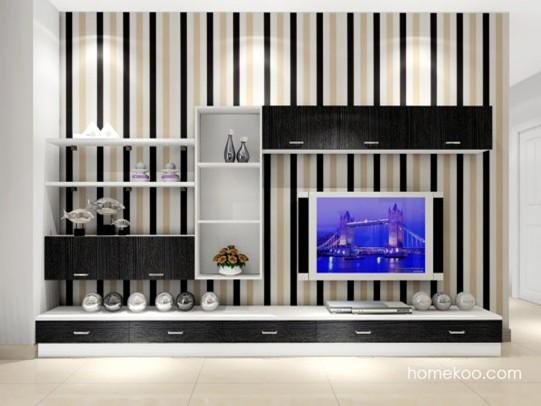 黑白电视背景墙 打造创意居所