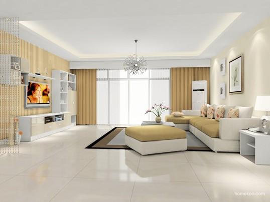 简约浪漫主义风格的迷人客厅设计图