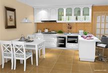 L型橱柜效果图 合理利用厨房空间