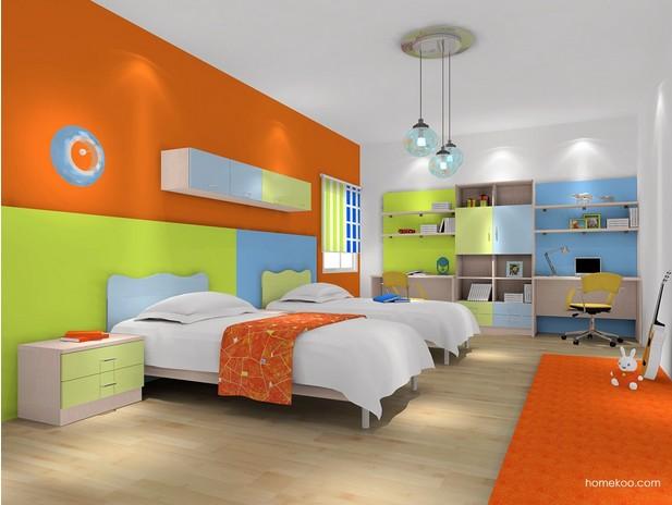 长方形儿童房装修图片