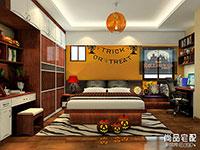 卧室简约田园风格效果图