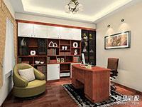 书房飘窗书桌设计图 书房装修设计效果图
