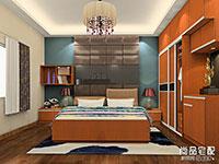 卧室定制整体衣柜效果图