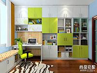 书房转角书柜效果图2016图片  书房转角书柜
