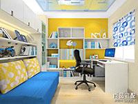 2016转角书柜设计图 转角书桌书柜设计图