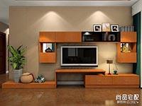 现代中式电视背景墙效果图
