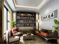 简约书房设计效果图