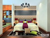 时尚卧室兼书房装修图片