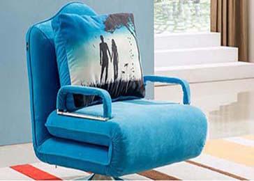 单人折叠沙发床图片