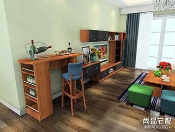 客厅中式吧台图片