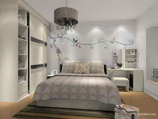 现代风格效果图,老婆喜欢的卧室装修风格