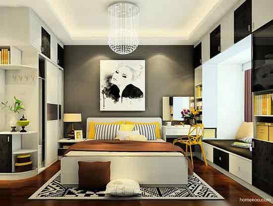 现代卧室吊顶效果图展示