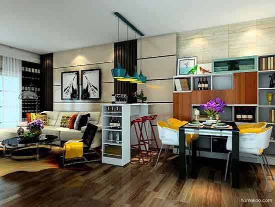 现代简约风格客厅效果图,就是这么美
