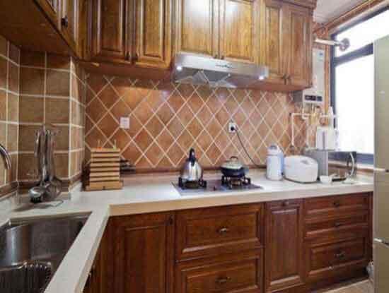 美式厨房装修图片欣赏