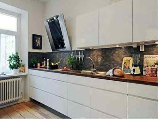 砖砌整体厨房效果图展示