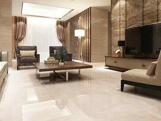 现代风格客厅地砖效果图