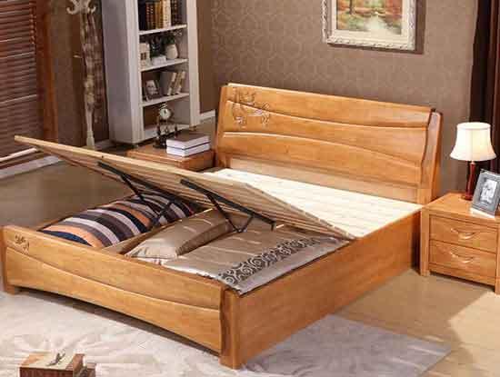 带抽屉实木床图片展示