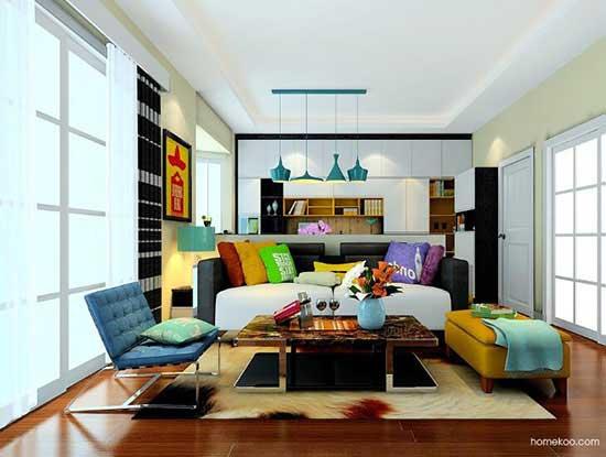 沙发背景墙案例图片,散发别致而迷人的魅力
