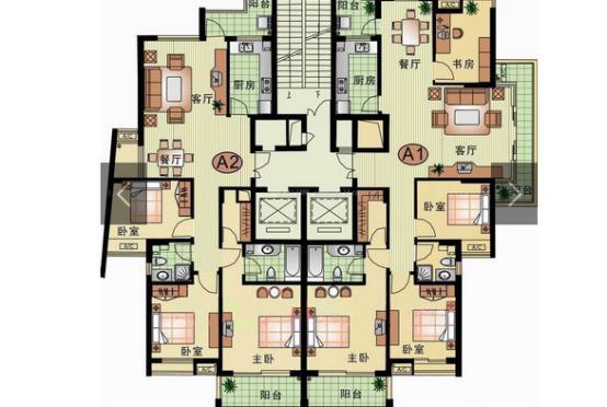 美式乡村风格平面图,一个舒适而美好的家居风格