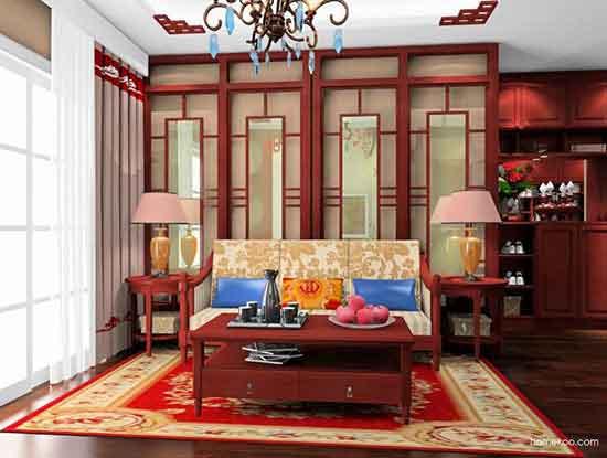 中式沙发效果图,营造舒适的家居氛围
