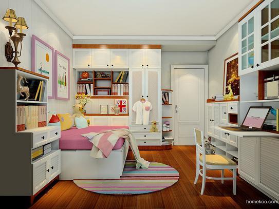 儿童房间装修效果图女孩,潮爸潮妈们看过来!