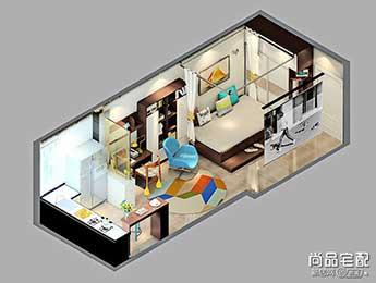 小户型开放式厨房吧台图片,创造出不一样的生活空间