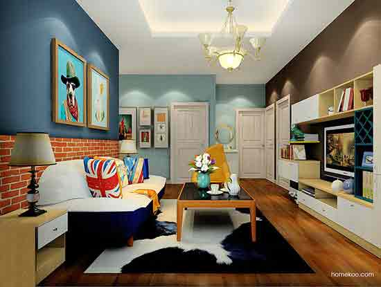 简欧客厅装修效果图,一个舒适而干净的空间