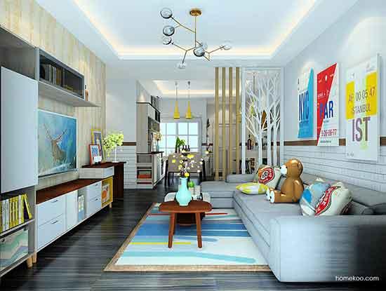 客厅设计图图片大全,清新而时尚