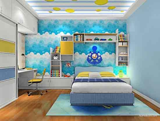 儿童房间装修效果图男孩,给孩子一个多彩多姿的世界