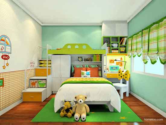 儿童高低床设计图片,满足两个孩子的需求