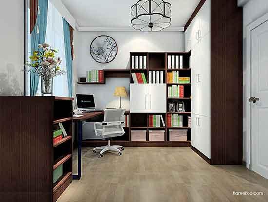 整体书房家具图片大全,朋友都说不错!