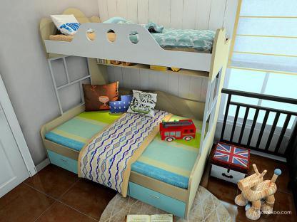 儿童高低床装修图片