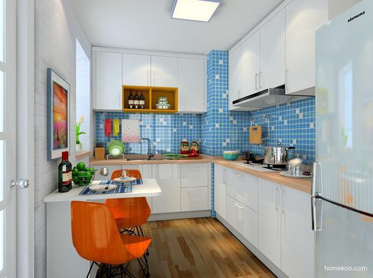 开放式厨房吧台图片欣赏