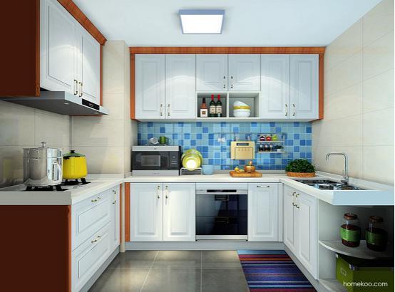 中式风格厨房效果图
