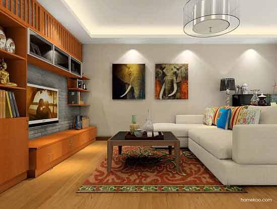东南亚风格客厅效果图,别有一番滋味!