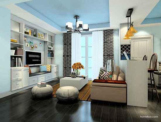 简约风格电视背景墙设计图,一种温馨而安静的居室氛围
