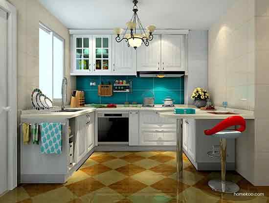 开放式厨房吧台装修效果图,巧妙运用空间