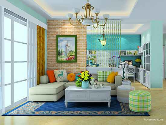 沙发背景墙装修效果图大全,实用时尚