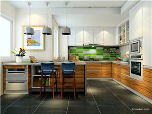 开放式厨房岛台图片2018欣赏