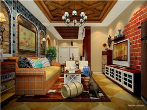 简约的美式乡村风格客厅,与大自然亲密相拥