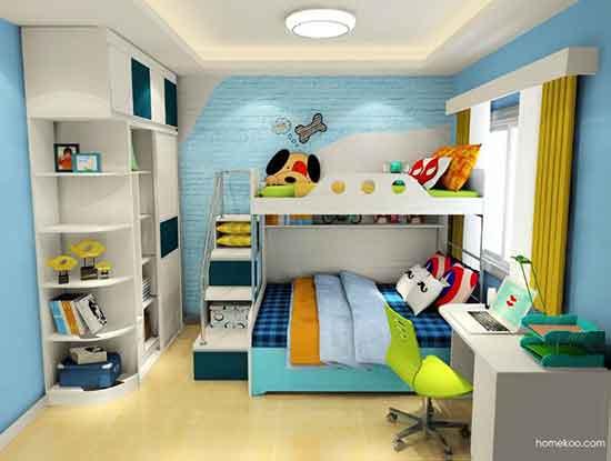 男童儿童房装修效果图,需要可以收藏一下!