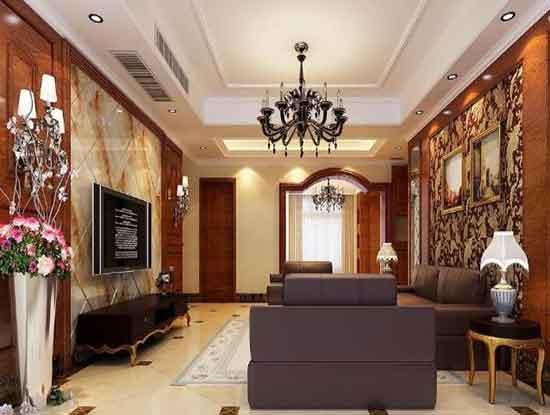 欧式装修效果图电视墙设计风格