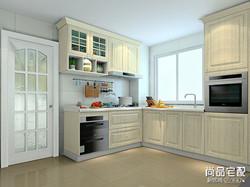 复古厨房橱柜效果图,细腻大方