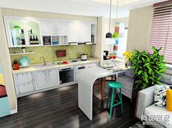 美式开放式厨房装修效果图,你喜欢哪种?