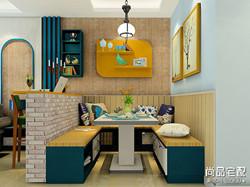 餐厅装修背景墙效果图案例分析