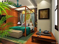 东南亚卧室装修风格效果图欣赏