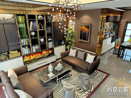现代简欧客厅效果图