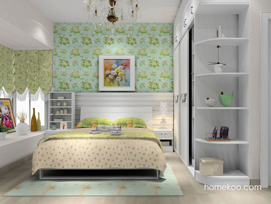 韩式田园卧房家具图片