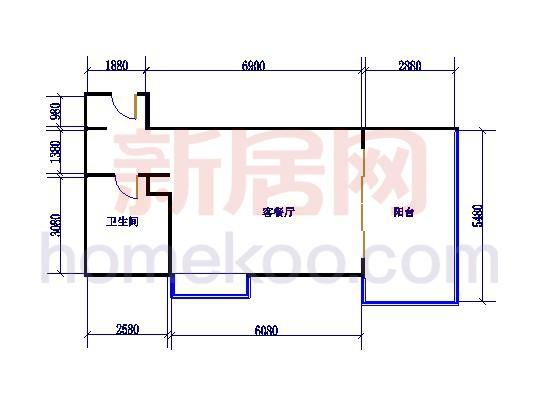 H01、10室1室1厅1卫 59.57�O