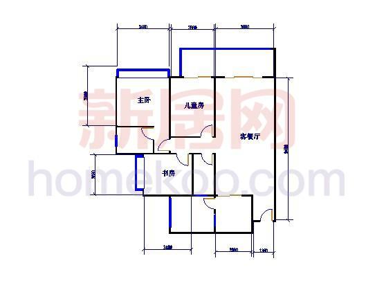 F12栋04单元户型图面积127.13�O